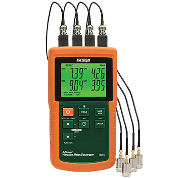 Extech VB500 4-Channel Vibration Meter/Datalogger