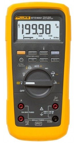 FLUKE-87V-MAX INDUSTRIAL TRUE RMS HEAVY DUTY MULTIMETER