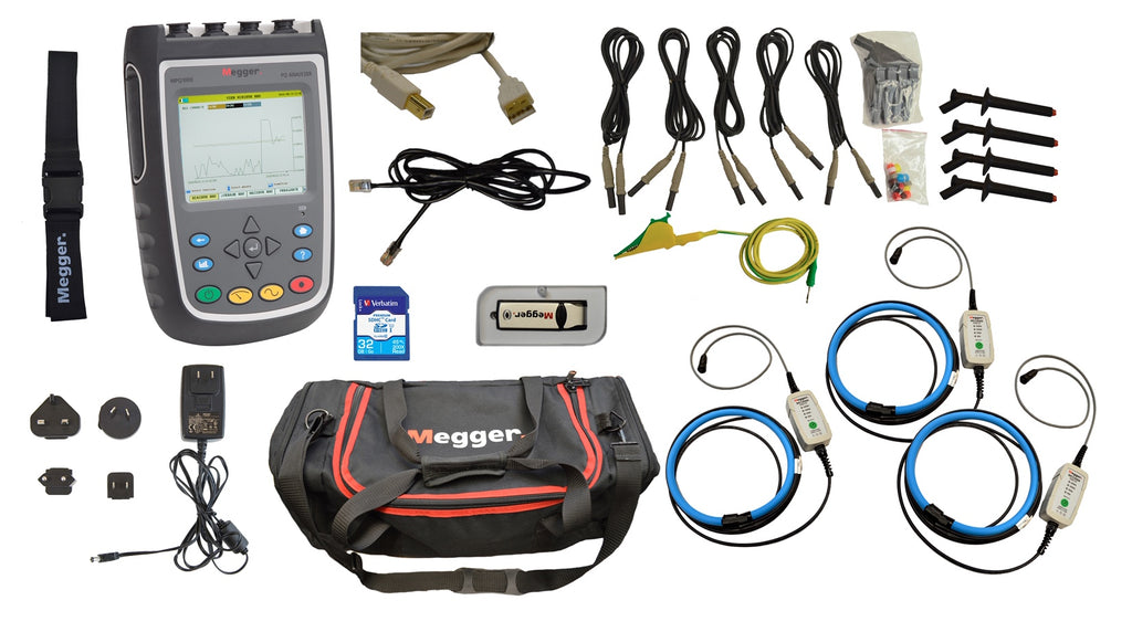 Megger MPQ1000  Eight Channel Hand Held Power Quality Analyzer.