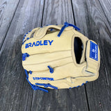 "GW-RTP: Bradley 10"" Plus Web, Igniter 20S 4-Finger, Blonde/Royal-GloveWhisperer, Inc"