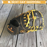 "GW-RTP-RS: Bradley 11.75"" 1B Mitt, Igniter Series Black Label (Black/Gold)-GloveWhisperer, Inc"