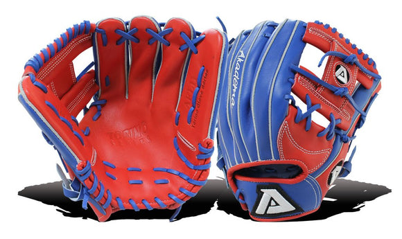 "GW-RTP-RS: Akadema AFL 11: 11.5"" Funnel pattern, Torino leather, I-web, dual-hinge with inverted thumb and pinky finger design, open back, medium pocket.-GloveWhisperer, Inc"