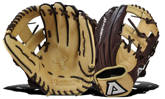 GW-RTP: Akadema 11.5 INCH FUNNEL PATTERN' I-WEB, W/INVERTED FINGER DESIGN. USED FOR INFIELD-GloveWhisperer, Inc