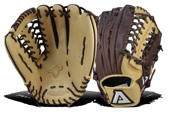 GW-RTP: Akadema APX 221 12.75 INCH REPTILIAN CLAW PATTERN, MODIFIED TRAP WEB. OUTFIELD-GloveWhisperer, Inc