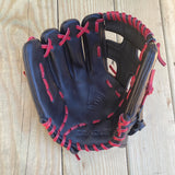 "GW-RTP-RS: Bradley 11.25"" Plus/Web, Fast Pitch Bandito Series Black/Red Fixed Lace-GloveWhisperer, Inc"