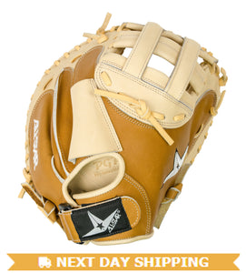 GW-RTP_RS: All-Star FP Vela CMW3001 Catchers Mitt 33.5 inch Fast Pitch Single Hindge Saddle Cream-GloveWhisperer, Inc