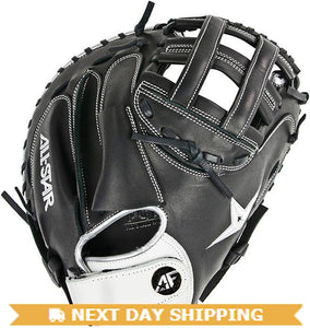 GW-RTP-RS: All-Star FP Vela CMW3001 Catchers Mitt 33.5 inch Fast Pitch Single Hindge Black-GloveWhisperer, Inc