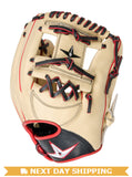 "GW-RTP-RS: All-Star PRO-ELITE™ 11.5"" INFIELD BASEBALL GLOVE CR/BK/RD-GloveWhisperer, Inc"