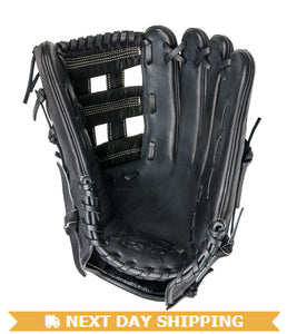 "GW-RTP-RS: All-Star S7™ OUTFIELD : FGAS-1275H 12.75"" H-Web Outfield Glove Black-GloveWhisperer, Inc"