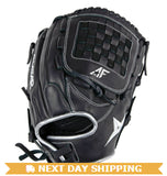 "GW-RTP-RS: All-Star PRO-BALL FP™ FGWAS 12.0"" ALL POSITION Fast Pitch Black-GloveWhisperer, Inc"