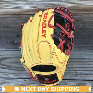 "GW-RTP-RS: Bradley 11.25"" I-Web, Next Play Series Blond/Black/Red-GloveWhisperer, Inc"
