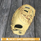 "GW-RTP-RS: Bradley 12.25"" FP Bandito Series, 1B Mitt (blonde) Adjustable-GloveWhisperer, Inc"