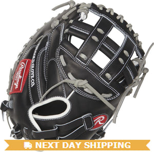 GW-RTP-RS: Rawlings HOH Softball • PROCM33FPB-24BG • 33˝ Softball catcher's mitt • Mod. Pro H-Web-GloveWhisperer, Inc
