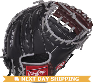 GW-RTP-RS: Rawlings 2019 R9 Gamer 32.5 in Catcher Mitt Solid Web, Conventional Back-GloveWhisperer, Inc