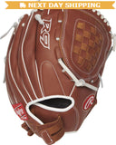 GW-RTP-RS: Rawlings 2019 R9 Series 12 in Pitchers/Infield Glove Basket Web, Pull-Strap Back-GloveWhisperer, Inc