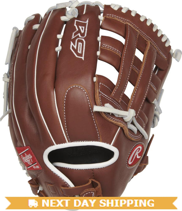 GW-RTP-RS: Rawlings 2019 R9 Series 13 in Fastpitch Glove Pro H Web, Pull-Strap Back-GloveWhisperer, Inc