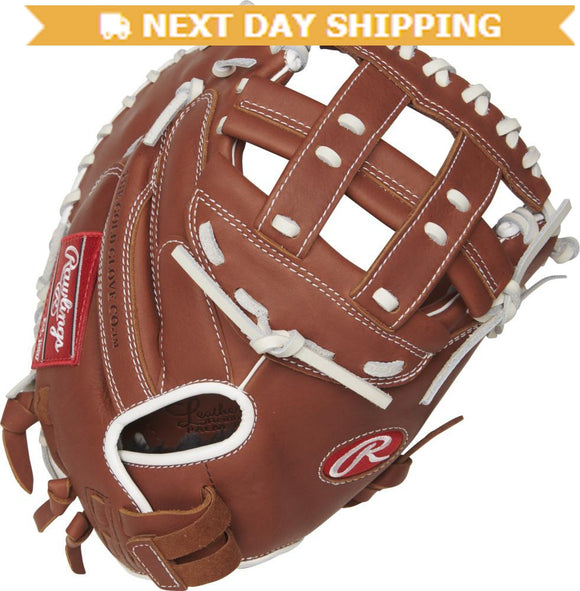 GW-RTP-RS: Rawlings 2019 R9 Series 33 in Catcher's Mitt Modified H Web, Pull-Strap Back-GloveWhisperer, Inc