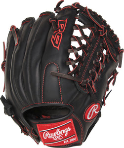 GW-RTP_RS: Rawlings Gamer 2019 - R9 Youth Pro Taper Fit 4-4B • 11 ½˝ • Modified Trap-Eze® web-GloveWhisperer, Inc