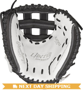 GW-RTP-RS: Rawlings Liberty Advanced FP • 33˝ FP catcher's mitt • Modified Pro H™ web • Custom fit-GloveWhisperer, Inc