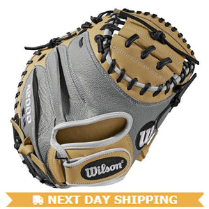 "GW-RTP-RS: WILSON 2019 A2000 CM33 PEDROIA FIT 33"" CATCHER'S BASEBALL MITT-GloveWhisperer, Inc"
