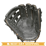 "GW-RTP-RS: Louisville Slugger 2019 LXT 12.5"" OUTFIELD FP: Grey with Gold Piping-GloveWhisperer, Inc"