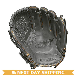 "GW-RTP-RS: Louisville Slugger 2019 LXT 12"" PITCHER'S FP: Grey with Gold Piping-GloveWhisperer, Inc"