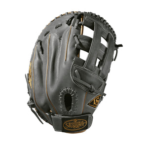 "GW-RTP: Wilson - Louisville Slugger LXT 13"" 1st Base: Grey with Gold Piping - RHT-GloveWhisperer, Inc"