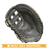 "GW-RTP-RS: Louisville Slugger LXT 13"" 1st Base: Grey with Gold Piping-GloveWhisperer, Inc"