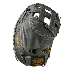 "GW-RTP: Wilson - Louisville Slugger LXT 33"" Catcher Mitt FP: Grey with Gold Piping - RHT-GloveWhisperer, Inc"