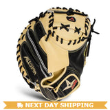 "GW-RTP_RS: All-Star Pro Elite Black and Tan 35"" Mitt-GloveWhisperer, Inc"