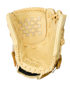 "GW-RTP: All-Star PRO-BALL FP™ FGWAS 12.0"" ALL POSITION Fast Pitch Saddle/Cream-GloveWhisperer, Inc"