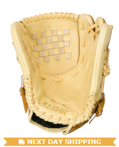 "GW-RTP-RS: All-Star PRO-BALL FP™ FGWAS 12.0"" ALL POSITION Fast Pitch Saddle/Cream-GloveWhisperer, Inc"