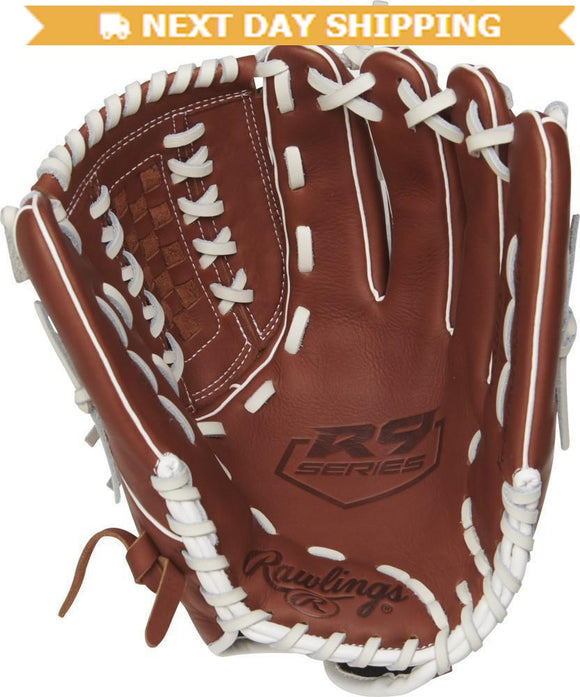 GW-RTP-RS: Rawlings 2019 R9 Series 12.5 in Pitchers/Outfield Glove Double-Laced Basket Web, Pull-Strap Back-GloveWhisperer, Inc