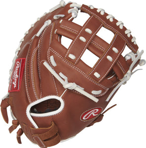GW-RTP: RAWLINGS 2019 R9 SERIES 33 IN CATCHER'S MITT MODIFIED H WEB, PULL-STRAP BACK-GloveWhisperer, Inc