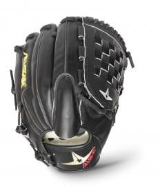 "GW_RTP_RS: All-Star S7™ PITCHER : FGS7-PTBK 12"" BLACK BASKET Pitching Glove Black-GloveWhisperer, Inc"