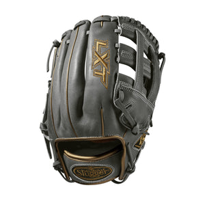"GW-RTP: Wilson - Louisville Slugger 2019 LXT 11.75"" INFIELD FP: Grey with Gold Piping - RHT-GloveWhisperer, Inc"