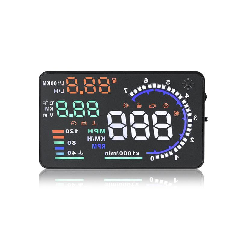 Hot selling 5.5 Inch Multi-color OBD2 HUD Head Up Display