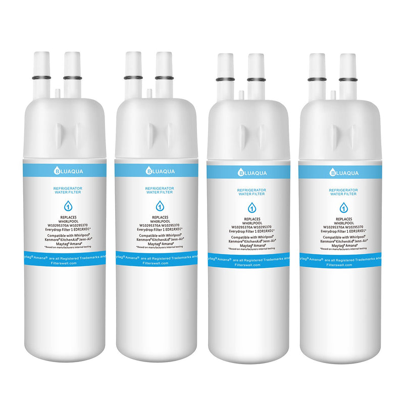 4Pack Whirlpool Filter 1 EDR1RXD1, W10295370A Compatible Refrigerator Water Filter - funcoolbox2018