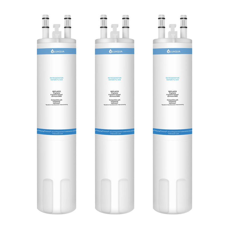 Bluaqua Replacement water filter for Frigidaire  Ultrawf Water Filter, Kenmore 9999 3-pack - funcoolbox2018