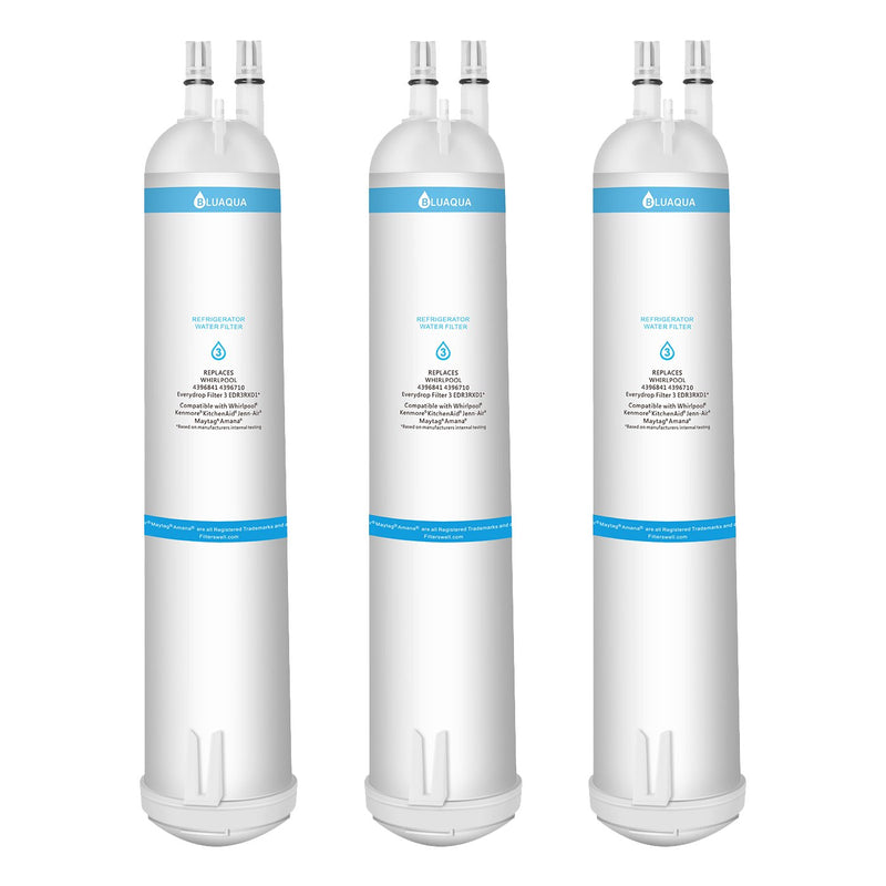 Whirlpool Refrigerator Water Filter 3 EDR3RXD1 4396710 4396841 , Kenmore 9030 Water Filter, 3-Pack - funcoolbox2018