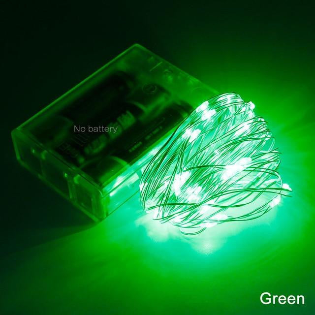 2M 5M 10M LED Silver Wire String Lights  Home   Decoration