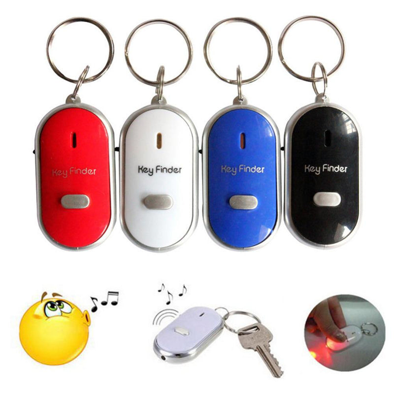 Mini Whistle Anti Lost Key Finder Wireless Smart Flashing Beeping Remote Lost Keyfinder Locator Keyring With LED Torch