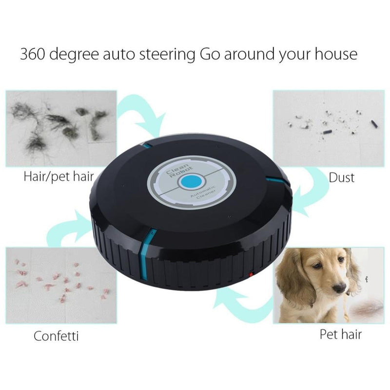 Auto Cleaner Robot Microfiber Smart Robotic Mop Dust Cleaner Cleaning-black In Stock Drop Ship Skin Beauty and Health CareHome