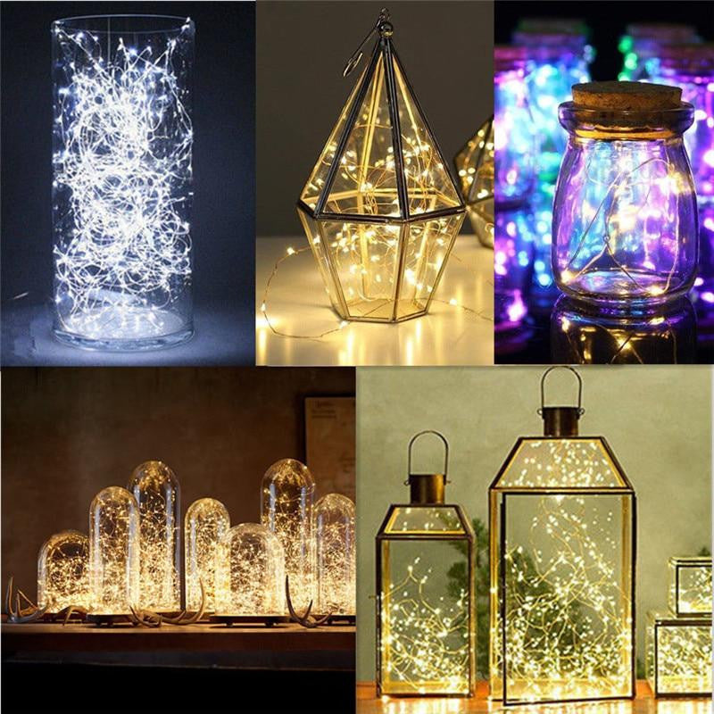2M 20 LED Copper Wire Fairy Garland Lamp LED String Lights Home Party Decoration