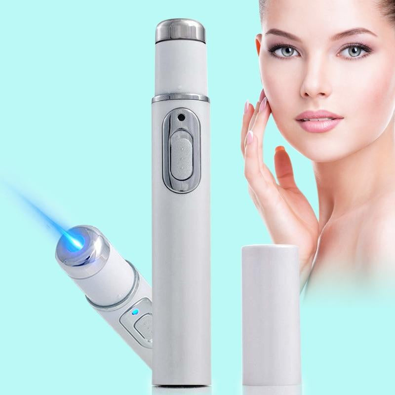 2018 Portable Blue Light Therapy Wrinkle Soft Scar Acne Remover Device Durable Powerful Pen Spider Vein Eye Skin Care Tools