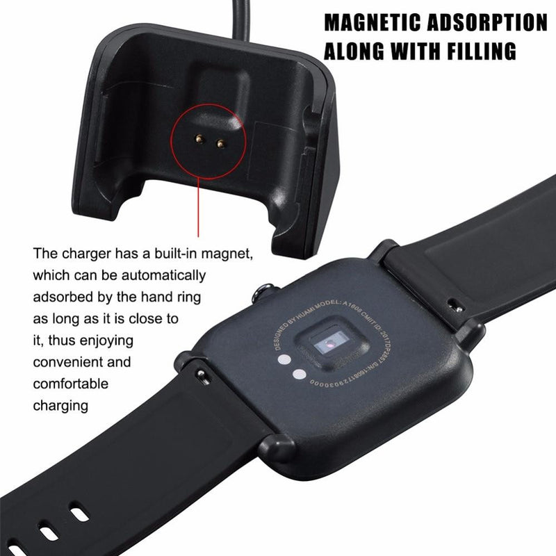 HANGRUI USB Magnetic Charger for Xiaomi Huami Amazfit Bip Youth smart watch chargers fast charging cable Cradle Charger Replace