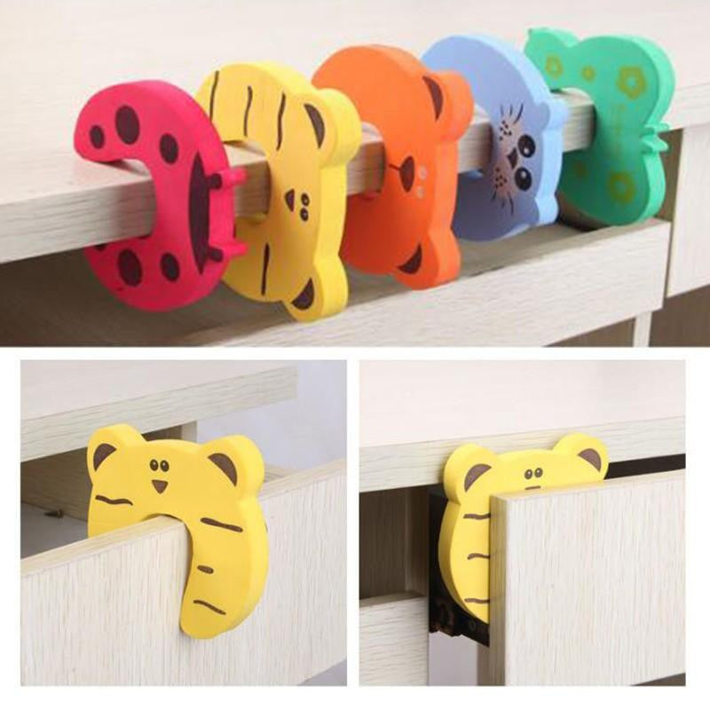 Children Safety Cartoon Door Clamp Pinch Hand Security Stopper Cute Animal Baby Safety Door Stopper Clip Security Drop