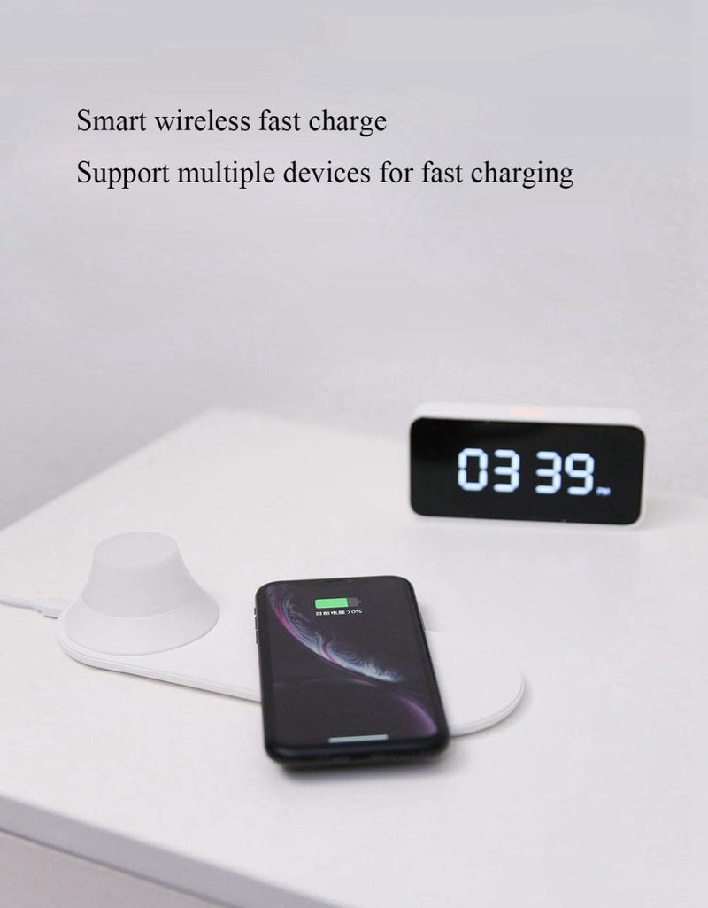 Xiaomi Yeelight Wireless Charger with LED Night Light Magnetic Attraction Fast Charging For iPhones Samsung Huawei Xiaomi phones