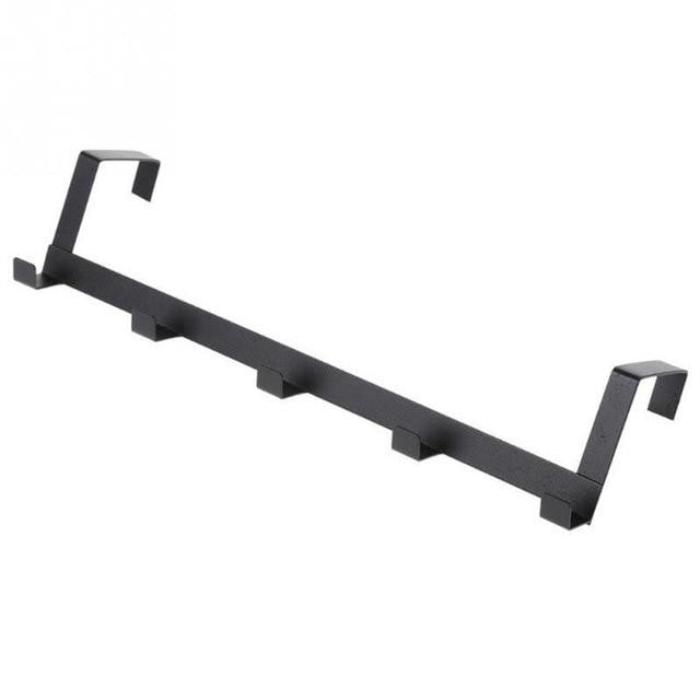 Durable Door Hook Living Room Wall Hanger Hat Durable Kitchen 5 Hooks Bearing Black White Color Bearing About 5kg #0227