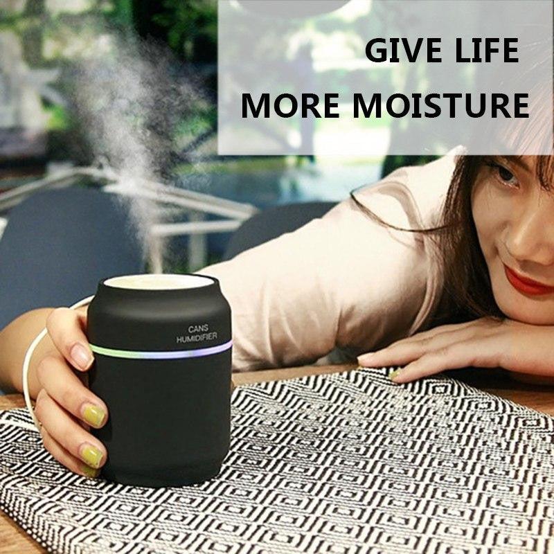 LED Ultrasonic Air Cans fan Humidifier Essential spray Aroma Oil spray Diffuser